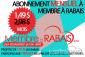 Abonnement mensuelle à Membre à rabais